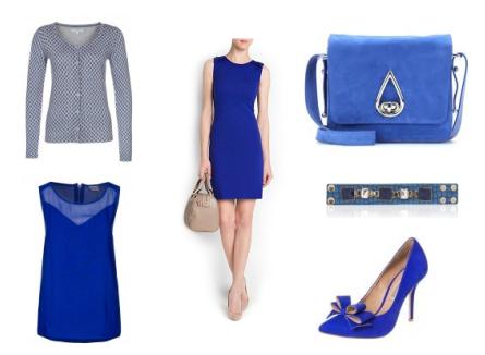 Mango jurk blauw