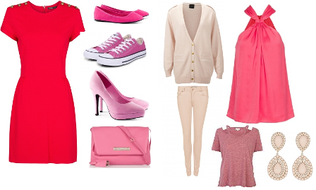 Roze collage