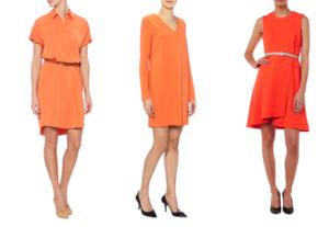 oranje jurken